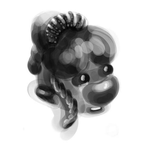 2nd illustration of the serie _black por