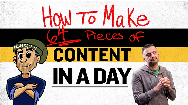 gary vee 64 pieces of content in a day.P