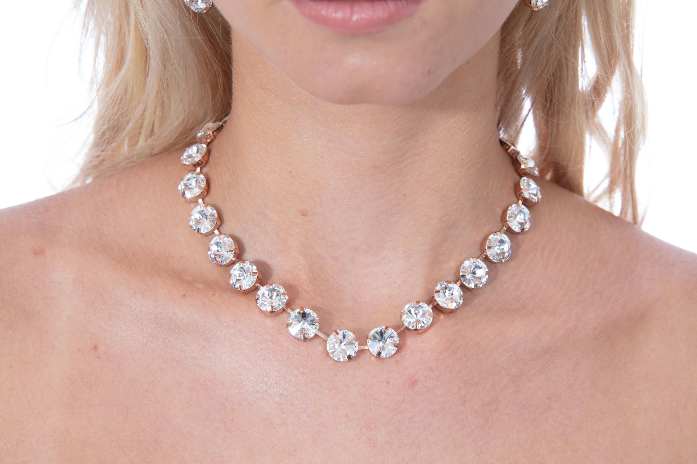 SwarovskiⓇ Crystal Necklace and Studs