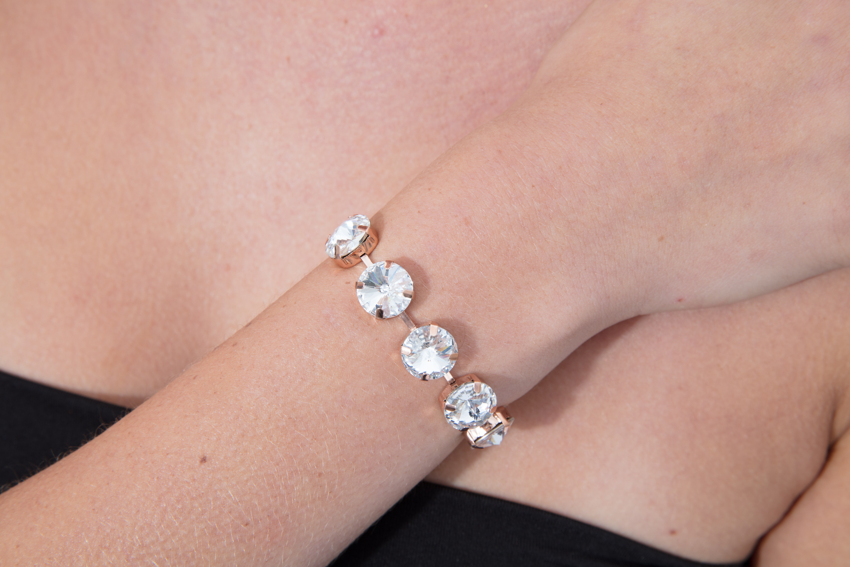 SwarovskiⓇ Crystal Bracelet and Studs