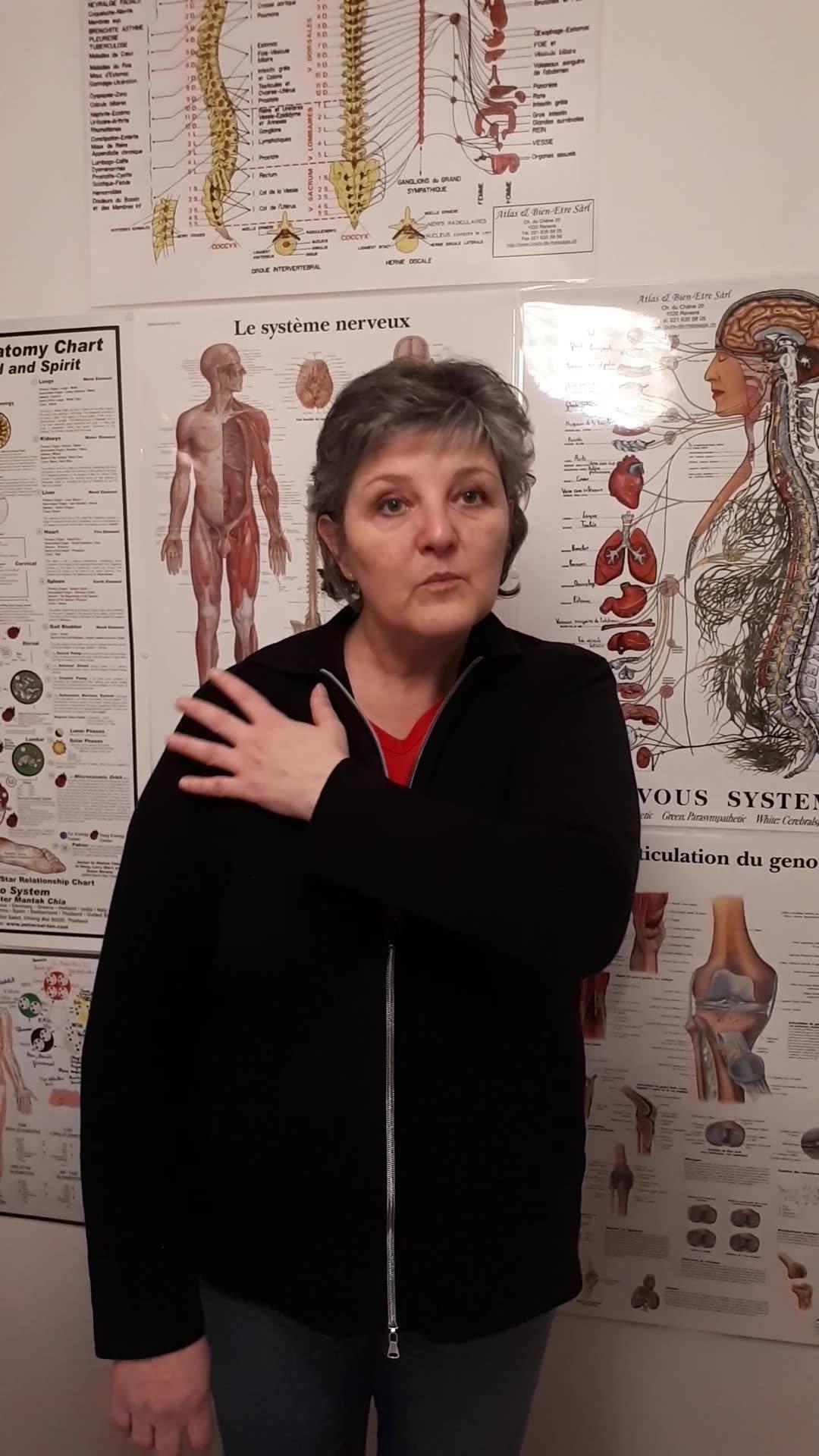 Témoignage de Franca pour une arthrose de l'épaule