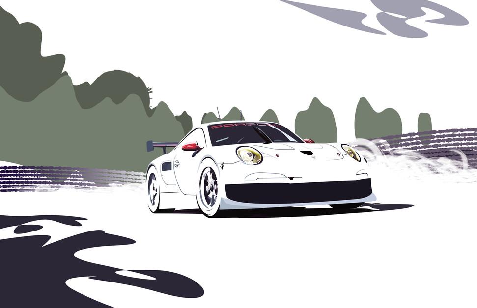 Porsche 911 RSR Racecar