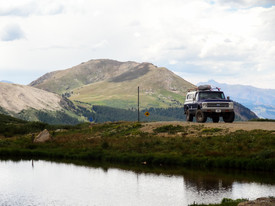 Truck at the top of Independence Pass