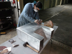 Sanding and Prepping Carbon Mold