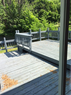 deck of back of house