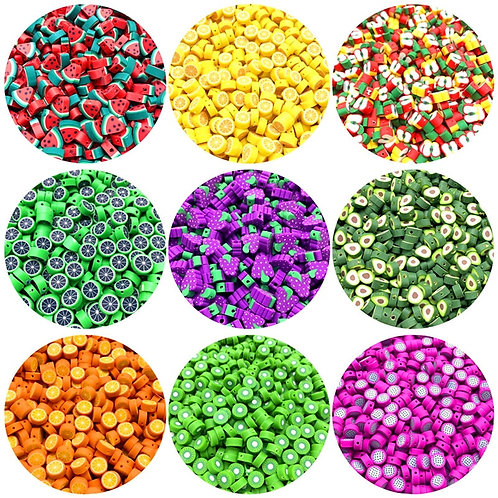 30Pcs/Lot 10mm Fruit Beads Polymer Clay Beads Mixed Color