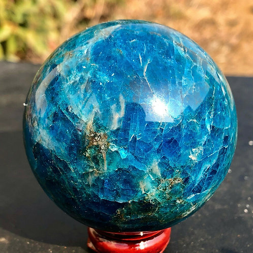 45-50mm Natural Blue Apatite Stone Sphere