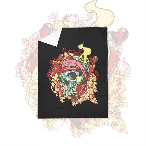 Blanket Pattern Skull Duvet Cover Set 3pcs Splash