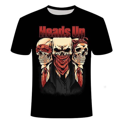 2020 New Men's Skull T-Shirt 3D PrintingT-Shirt for Men