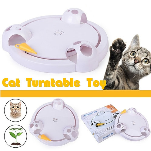 1PC Play Trilaminar Turntable Toy Pet Supplies Funny Pet Toys
