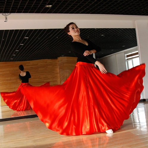Adult Women Belly Dance Costumes Long Dance Skirt