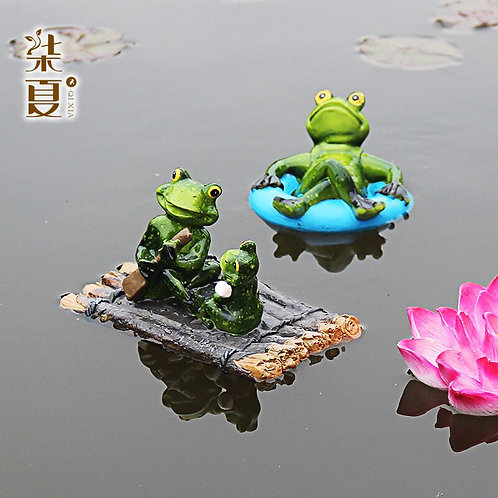 Artificial Frog Floating Home Decor  Fish Pond Fish