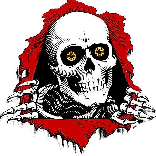 1PCS Skateboard Cool Skull Fashion Logo Sticker