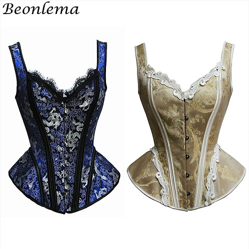 Beonlema Women Bustiers Top Sexy Corset for Punk Goth