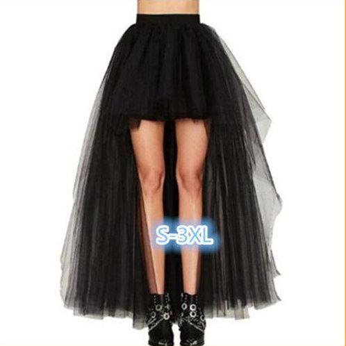 Black Swallowtail Vintage Steampunk Skirts Women Long
