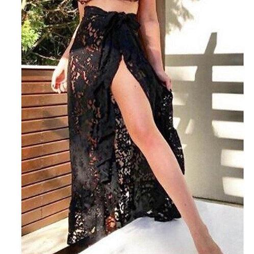 2019 Summer Boho Skirts Women Lace Sexy Lace Up