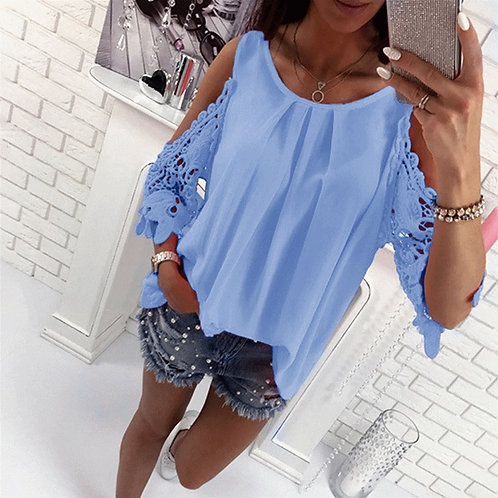 Bigsweety Ladies Blouse Fashion Womens Off Shoulder