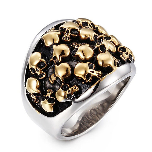 2020 Fashion Retro Luxury Jewelry Golden Skull