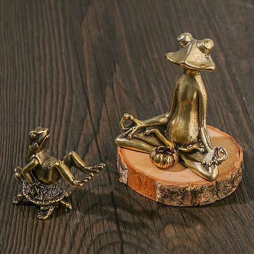 1PC RetroOrnament Incense Burner Frog Statue