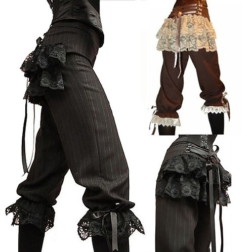 2020 Medieval Viking Pirate Costume Capris Lace