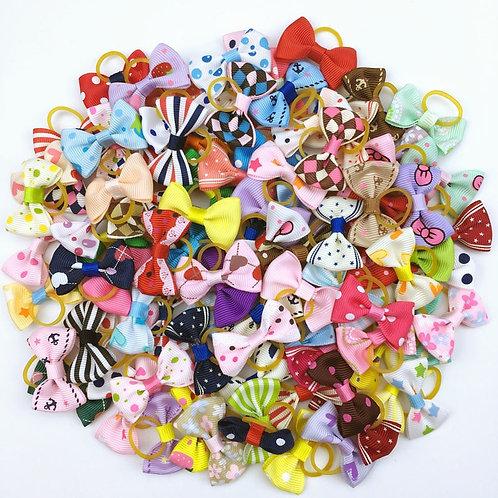 (100 Pieces/Lot) Cute Ribbon Pet Grooming