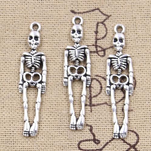 8pcs Charms Skull Skeleton Man 39x9mm