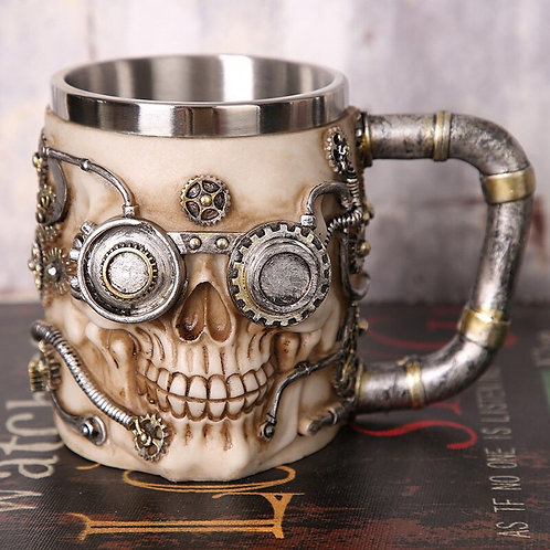 1Pcs 3D Axe ePacket Handle Viking Warrior 450ML Skull Mug