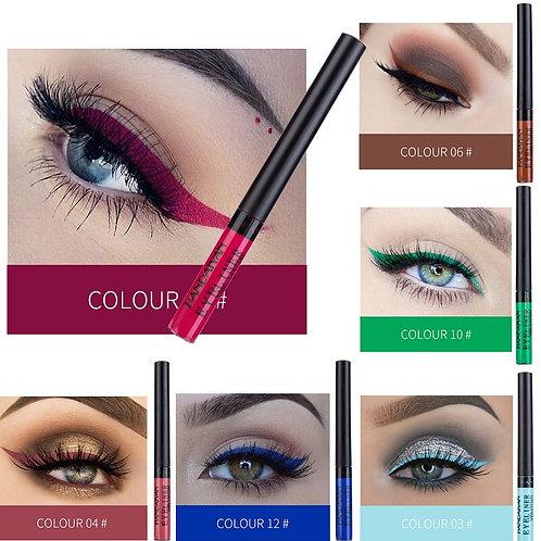 12 Color Eyeliner Liquid Waterproof Easy to Wear Make Up