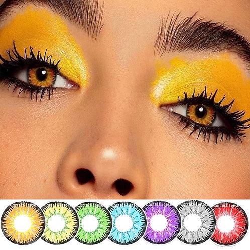 2pcs/Pair Colored Contact Lenses Eye Vika Tricolor Series