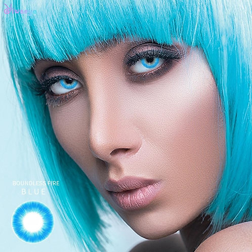 Blue Eye Contact Lenses With Color Pupilentes