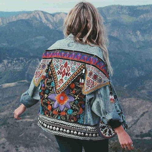 Boho Denim Jacket for Women