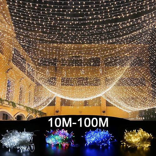 10M 100M Led String Garland Christmas Tree Fairy Light Chain