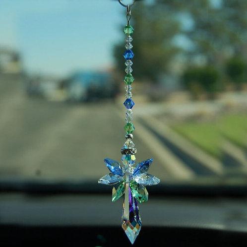 1PCS Hanging Crystal Guardian Angel Suncatcher