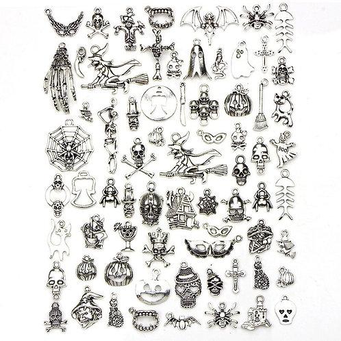 Assorted 70 Designs  Charms Skull Skeleton