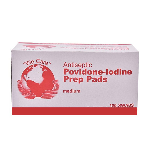 100Pcs/Box Povidone Iodine Disinfection Sheet Tissue Pads