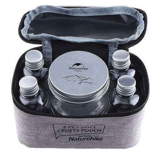 7pcs Portable Seasoning Jar Bag Camping BBQ