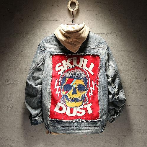 2 Colours Frayed Rock Vintage Black Blue Denim Jacket M