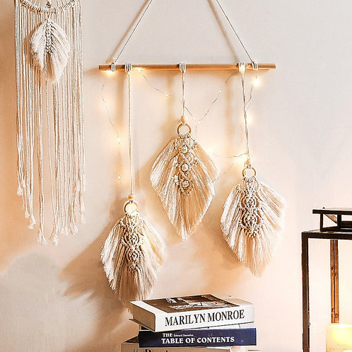 Boho Style Decorative Cotton Woven Macrame Wall Hanging