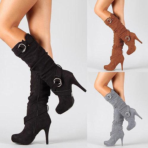 Botas Mujer Autumn Winter High Heels Boots Women Sexy