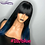 Thumbnail: Blue  Frontal Ombre 13x4 Lace Frontal/Closure Human Wigs With Bangs  Remy Wigs