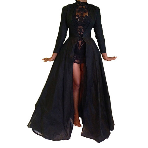2020 New High Quality Sexy Gothic Lace High Waist Sheer Jacket