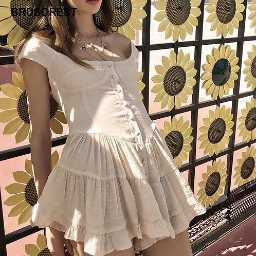 Bohemian Mesh Women Summer Dress Elegant Vintage