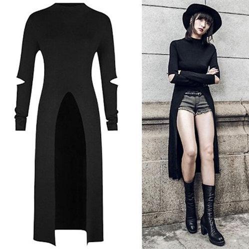2019 Newest Retro Dress Women Fashion Autumn Punk Gothic