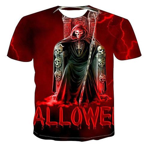 2020 Mens Skull T Shirts Punk Style Skull 3Dt- Shirts Men