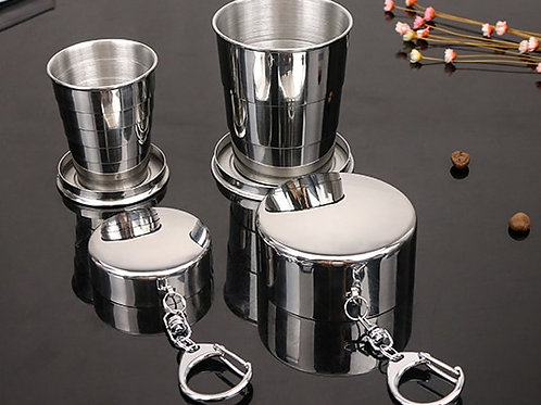 60ml 150ml 250ml  Stainless Steel Camping Folding Cup