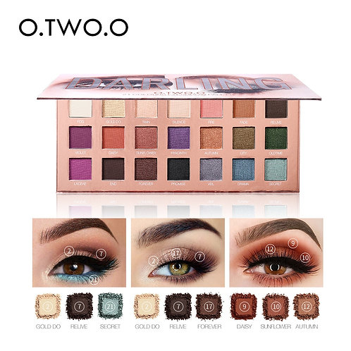 21 Color Glitter Eyeshadow Palette Shimmer