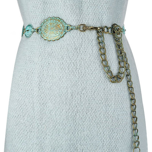 Badinka 2020 New Summer Vintage Metal Waist Chain Belt Female