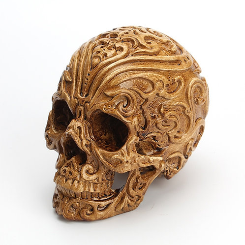 1PC Carved Skull Decorations Auspicious Clouds Skull