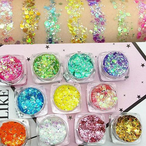 1Box Glitter Face Glow Shimmer Liquid Highlighter Brighten