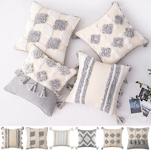 45x45cm Boho Cushion Cover Tufted Decorative Sofa Pillow Cover D30
